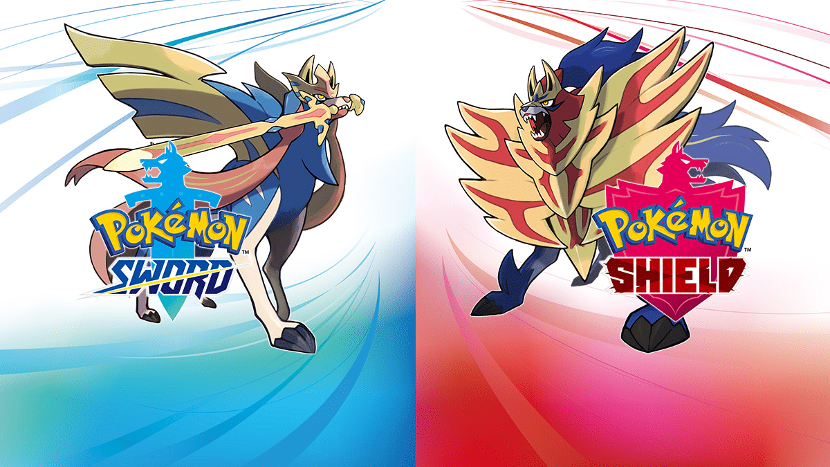 A promotional image for Pokémon Sword and Shield.