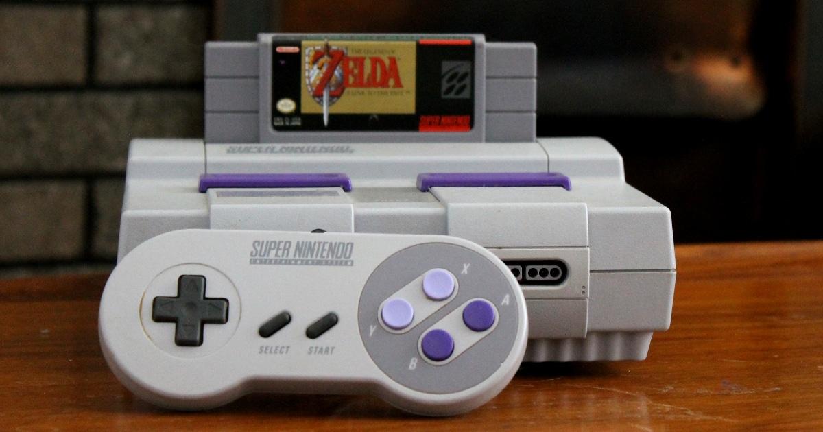 a Super Nintendo