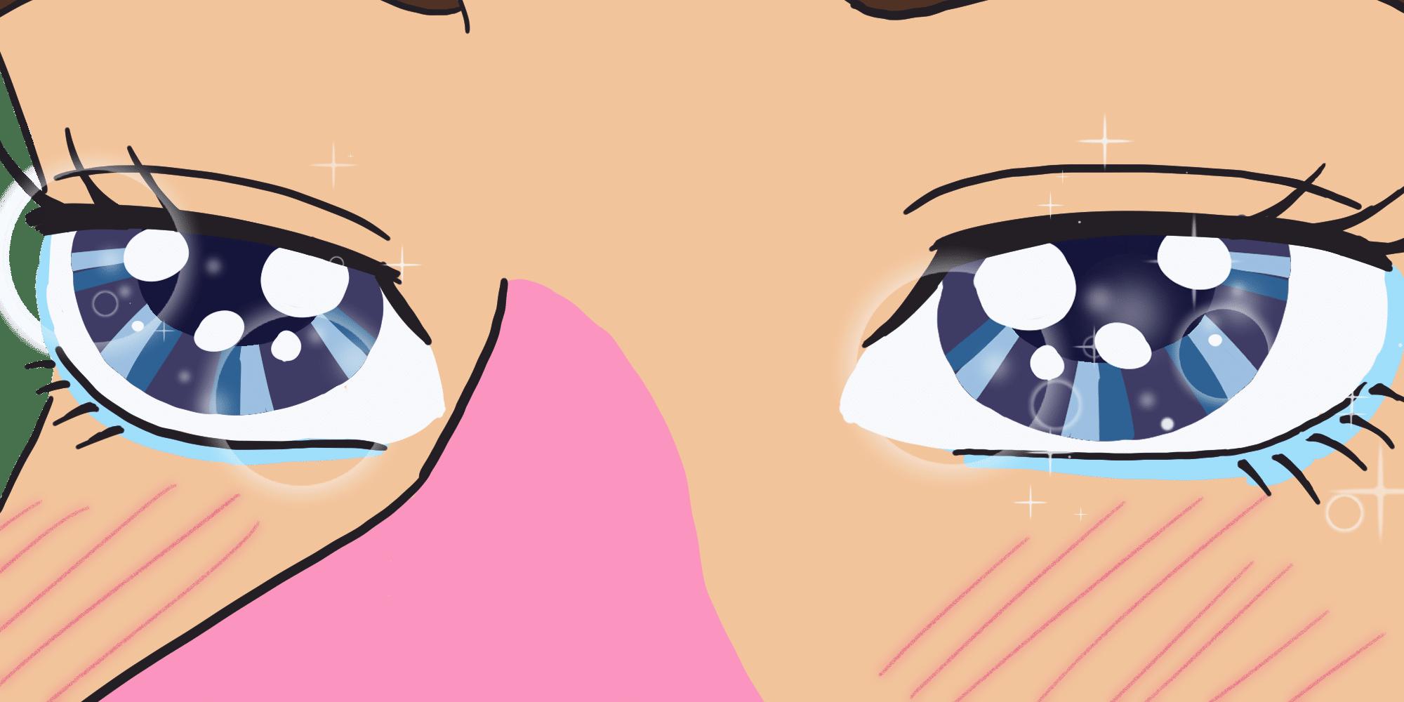 closeup of Waluigi's eyes