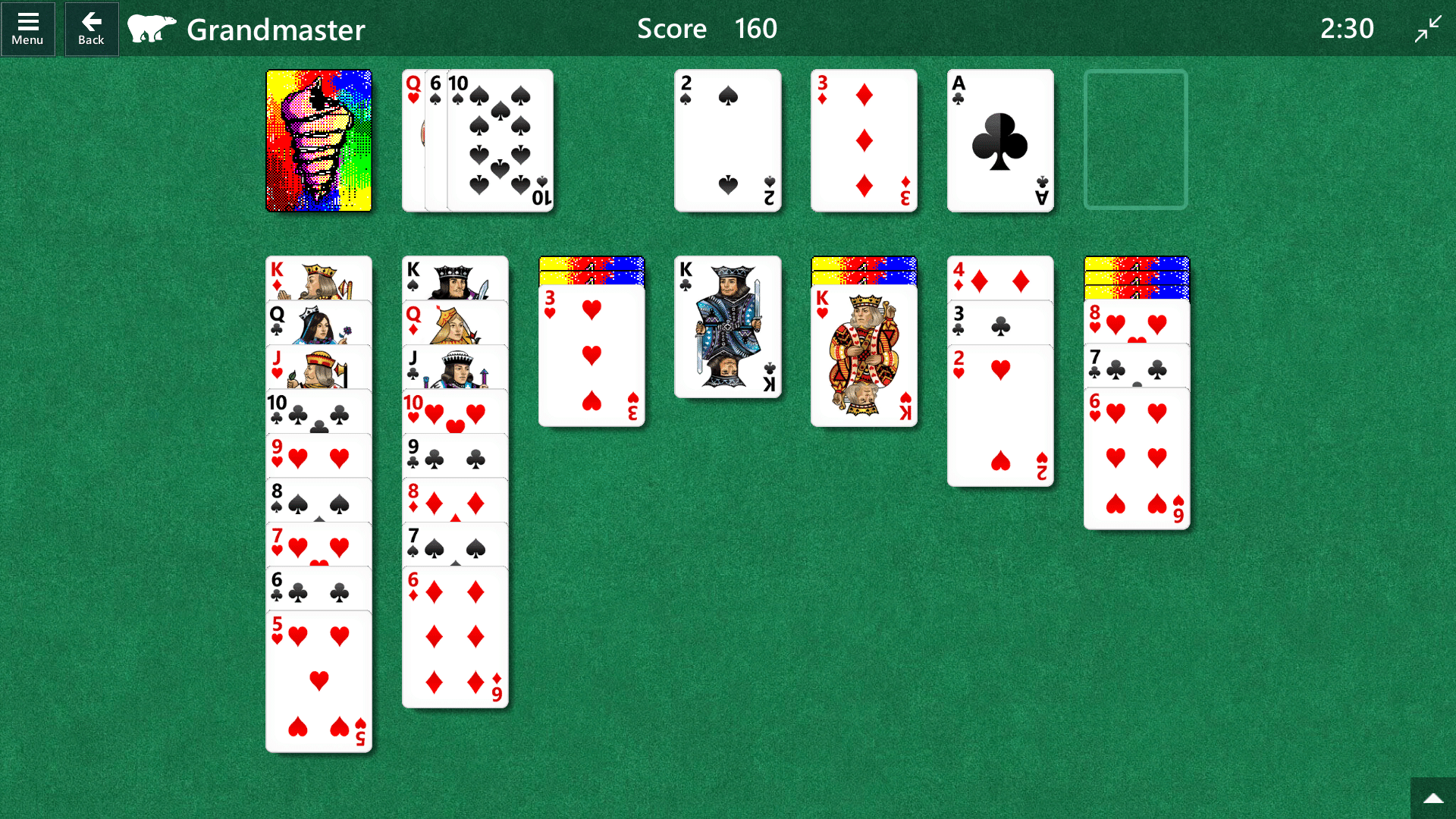 An unwinnable game of Solitaire. In story mode, that would mean my player gets fired.