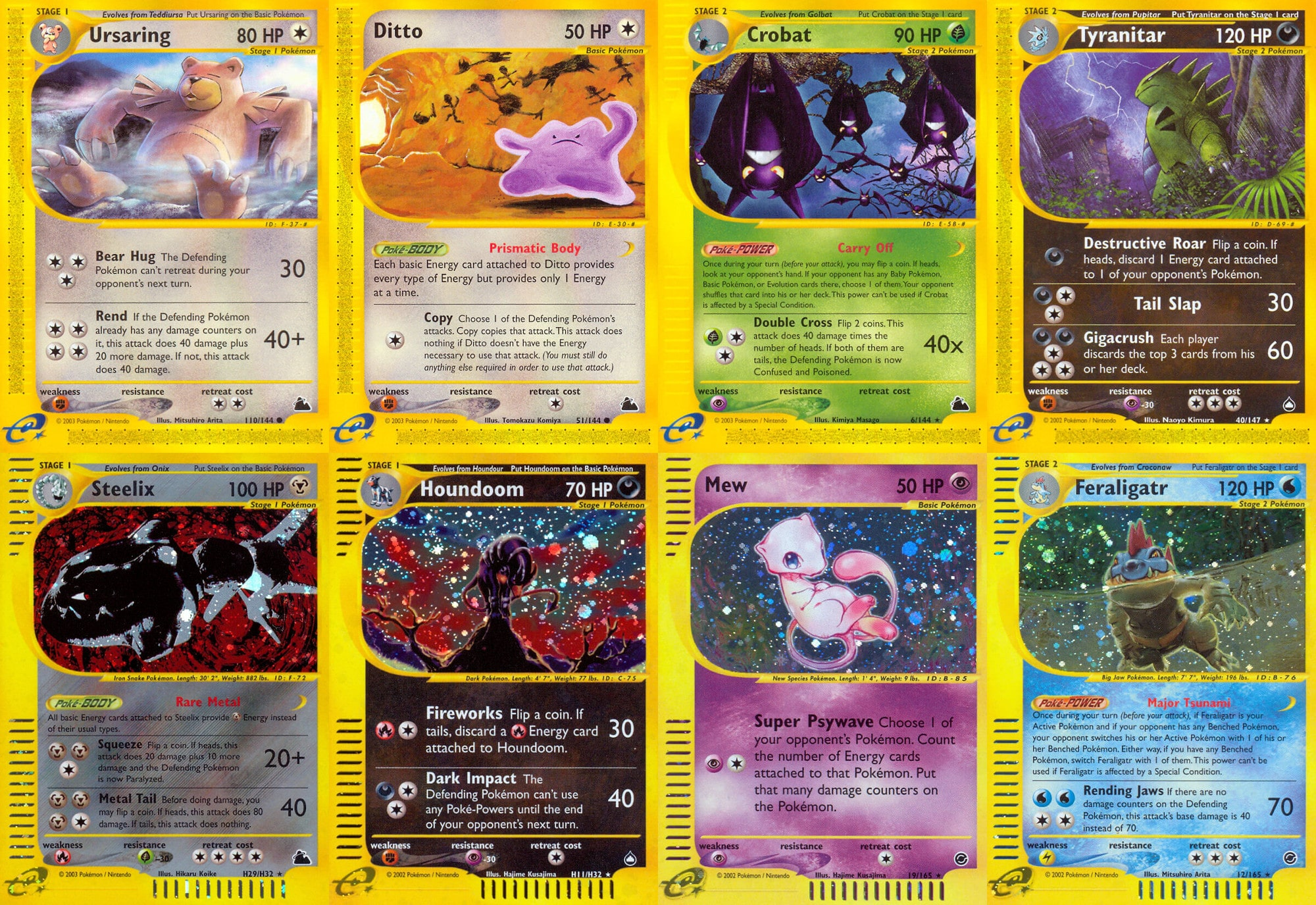 Scans of cards from the e-Reader era of Pokémon history