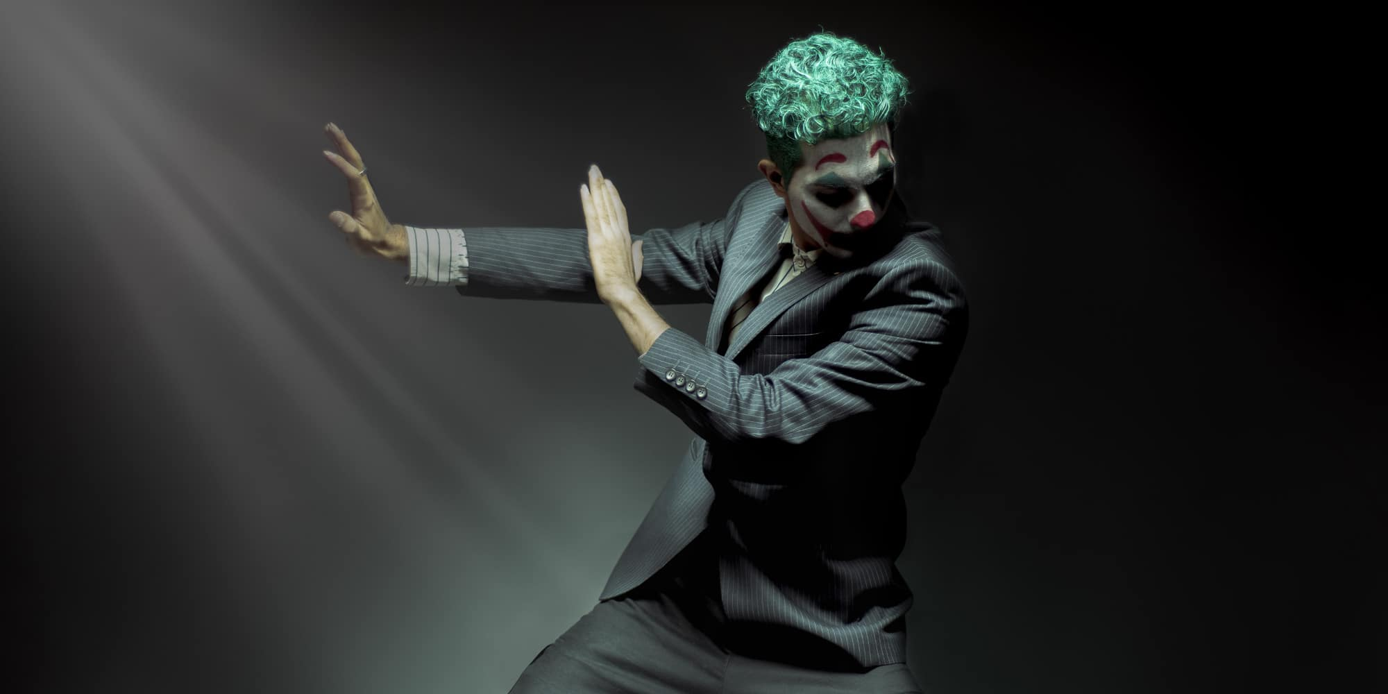 a man who has become the Joker