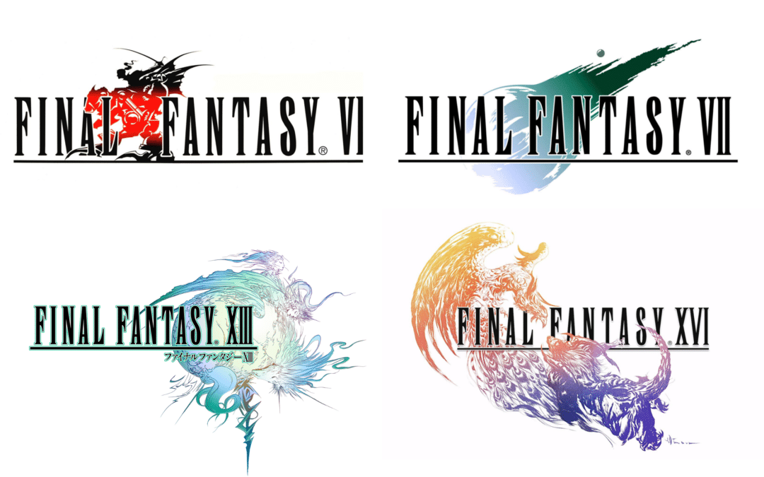 logos for several Final Fantasy games
