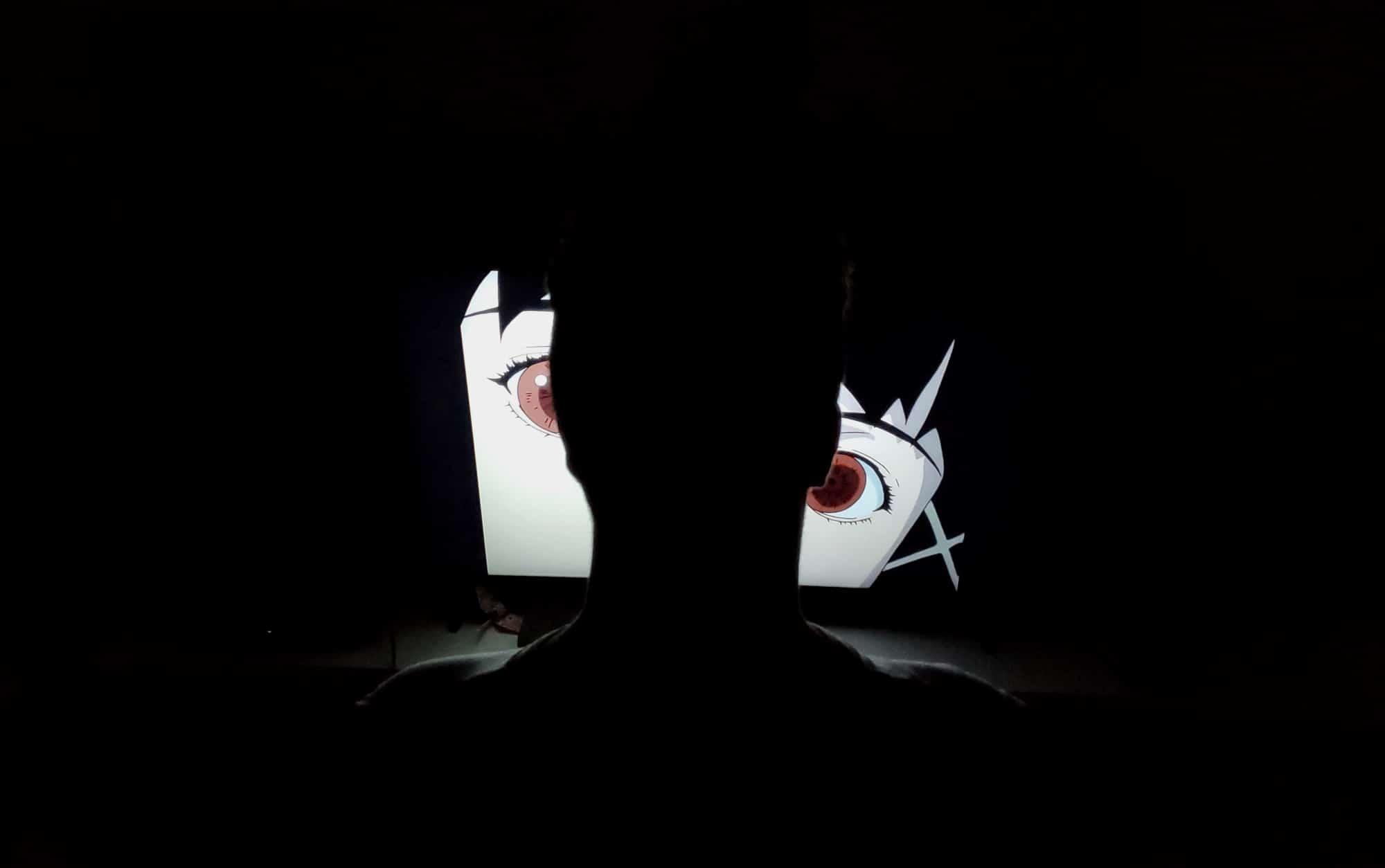 I rewatch stuff in the dark